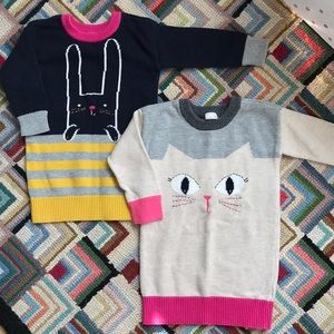 2-pack Baby Gap sweater dresses, size 18-24 months